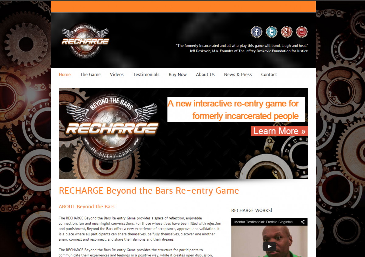 RECHARGE Beyond the Bars Re-entry Game